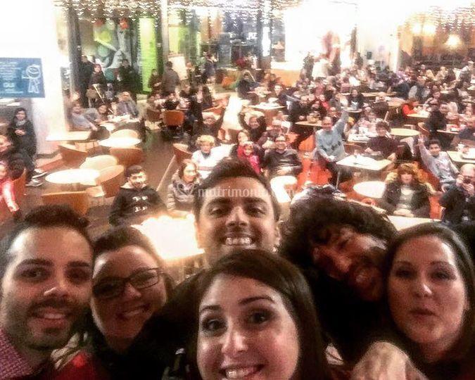 Selfie col pubblico