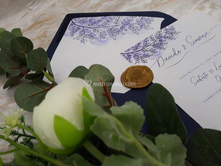Inviti di matrimonio blu