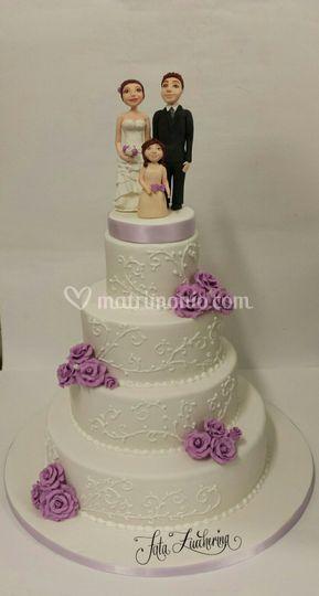 Lilla con cake topper personal