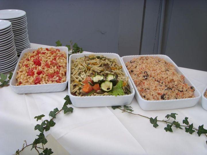 Insalate di pasta e riso compressa