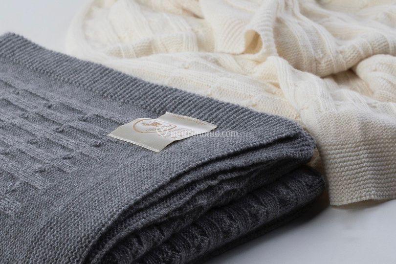 Plaid in maglia di Cashmere