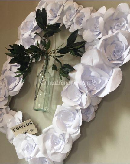 Decorazione con paperflowers