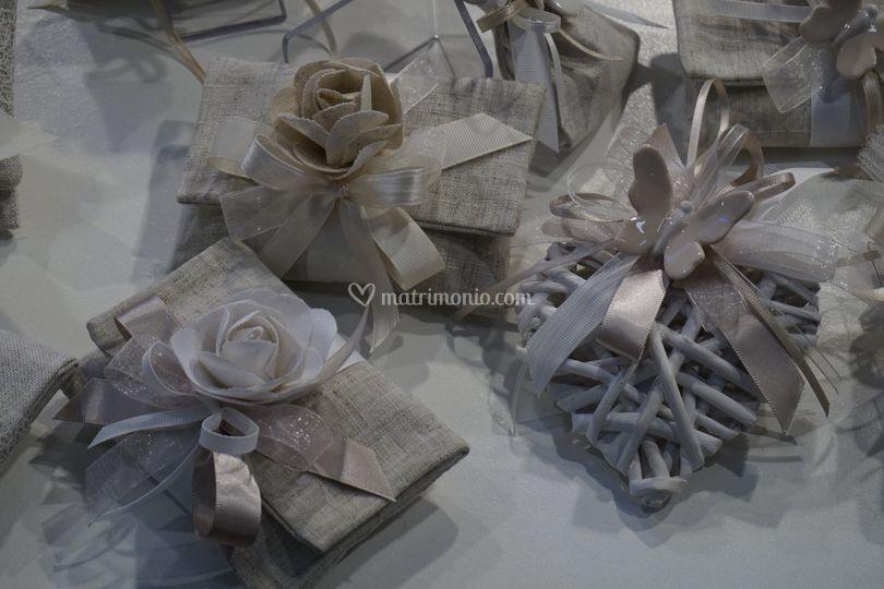Pochette fiore lino