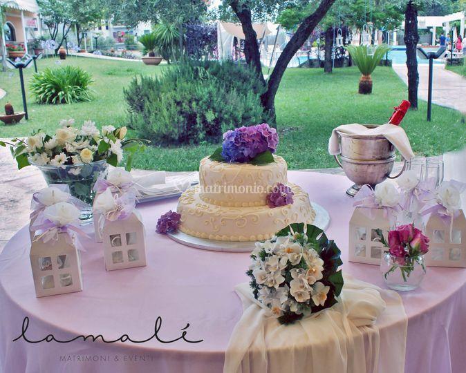 Tavolo torta prima comunione di lamal foto 7 - Addobbo tavola prima comunione ...