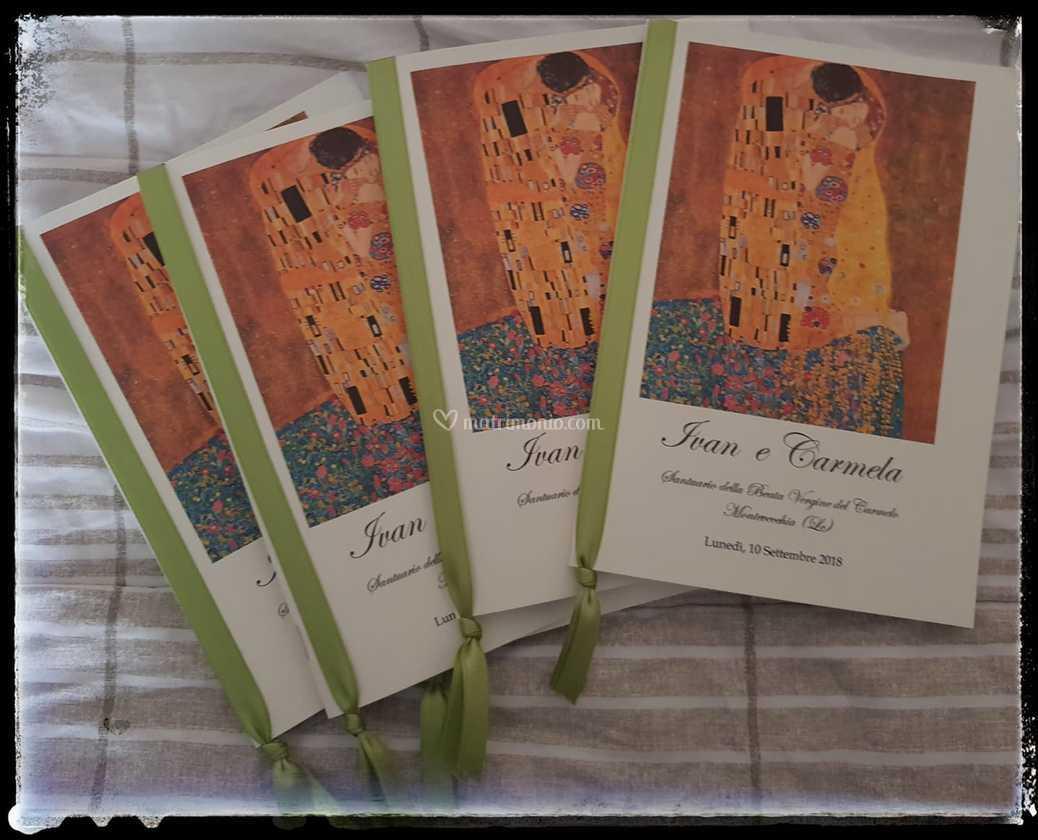 Partecipazioni Matrimonio Klimt.Libretto Bacio Klimt Di Libretti Nuziali By Elena Foto 13
