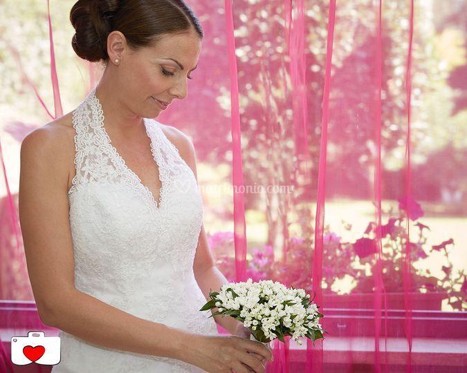 La sposa col bouquet