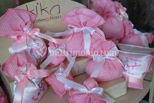 Sacchettini portaconfetti in rosa