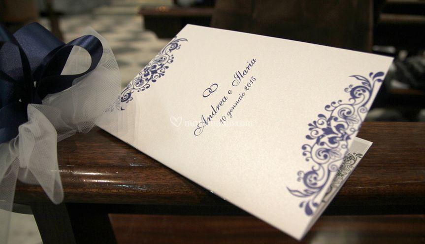 Libretto nozze - Città in Blu