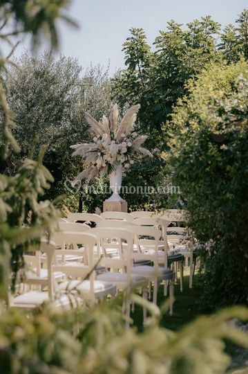 Wedding pampas decor