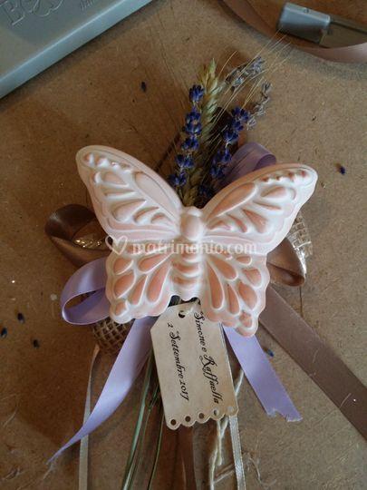 Farfalla in ceramica profumata