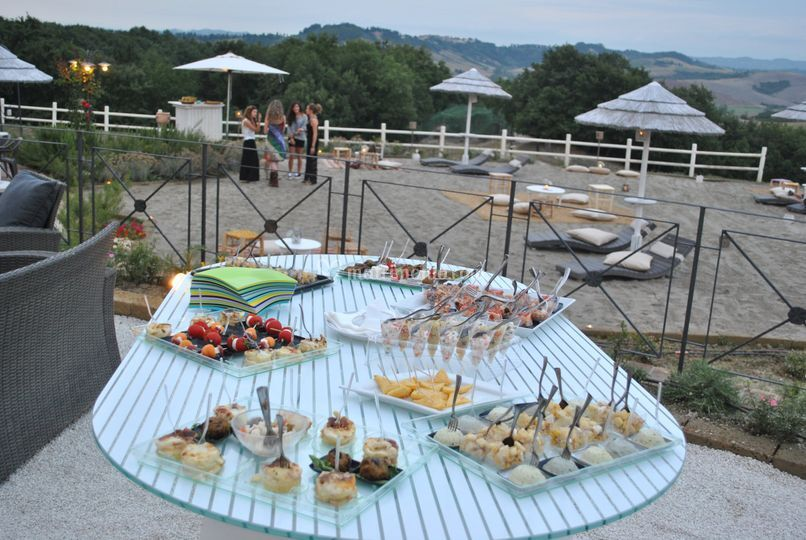 Finger food in spiaggia