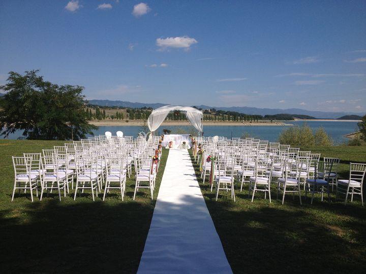 Cerimonia lago veduta centrale
