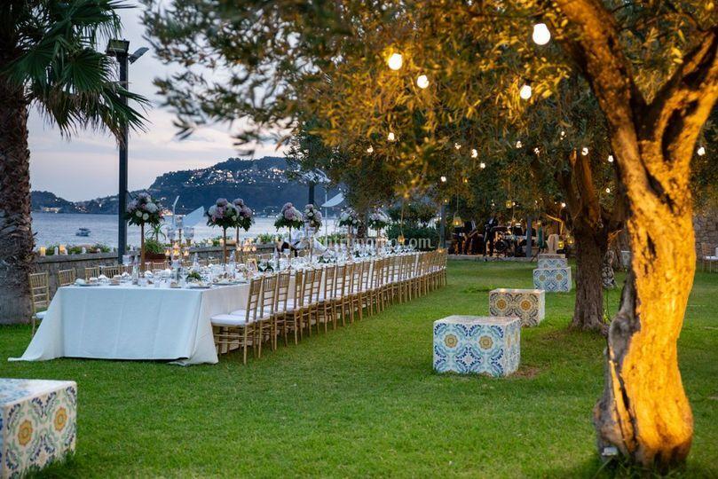 Tavolo Imperiale a Villa Garbo