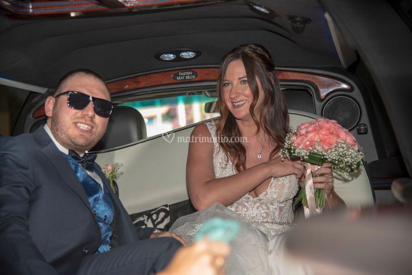 Sposi nella Limousine
