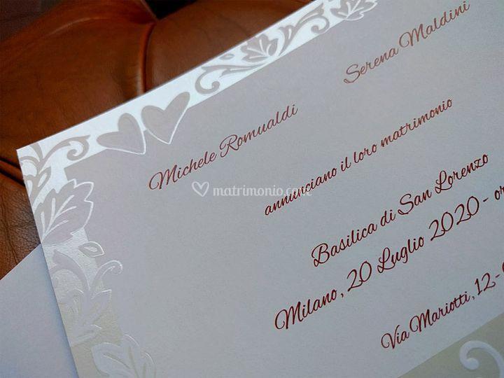 Partecipazioni Matrimonio A 0 50.Sposashop