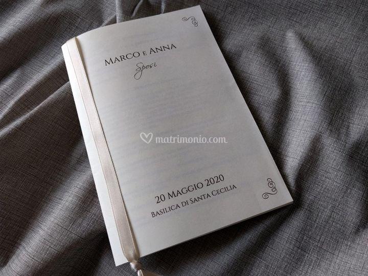 Libretto messa avorio
