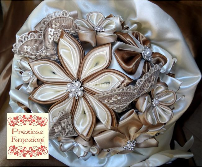 Bouquet champagne pizzo perle