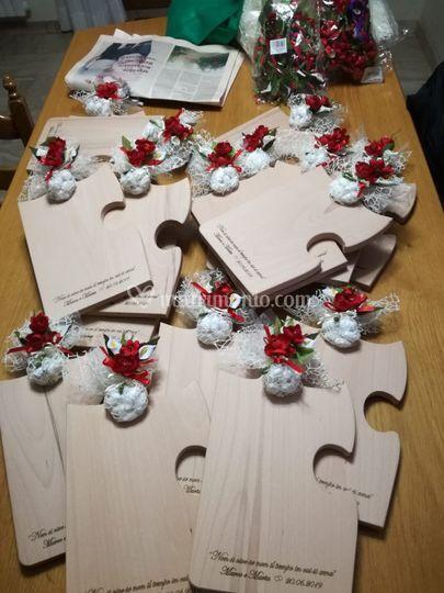 Tagliere puzzle legno