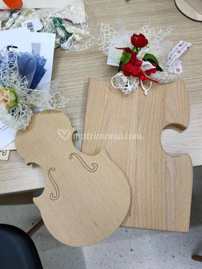 Tagliere violino e puzzle