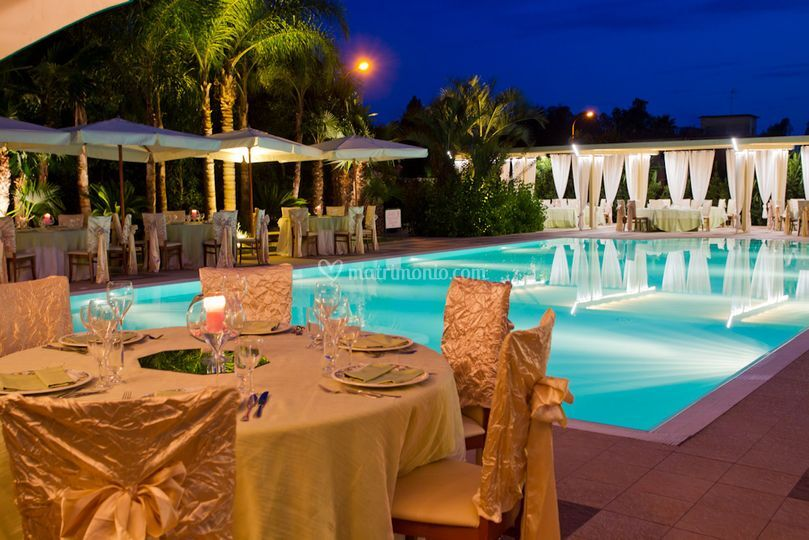 Ristorante nan for Matrimonio bordo piscina