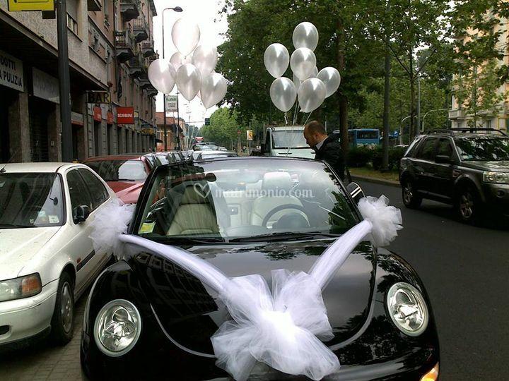 Addobbo palloncini auto