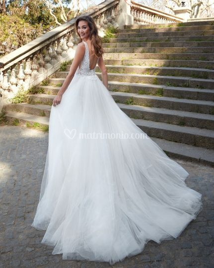 Delsa couture - medello d3001 b - collezione 2020