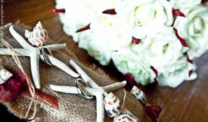 Cuscino portafedi e bouquet