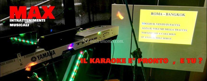 Il karaoke è pronto