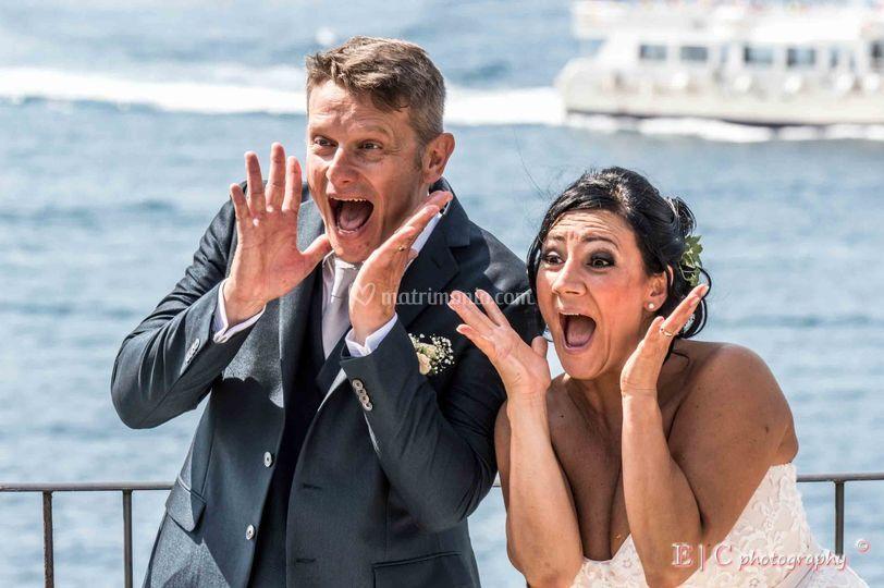Francesco e Monica dopo cerimo