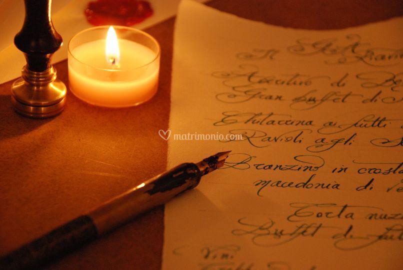 Menu scritto a mano