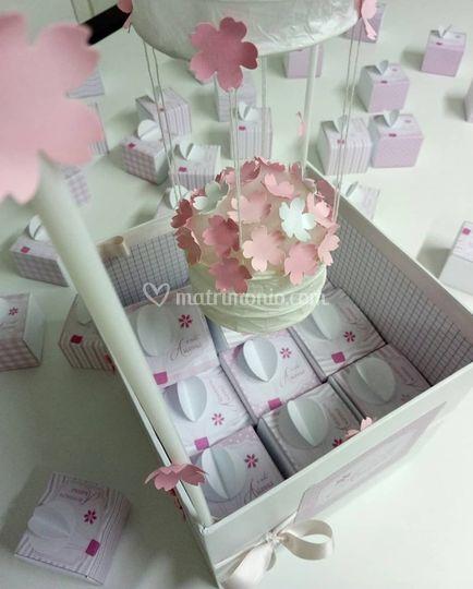 Confetti nascita mongolfiera