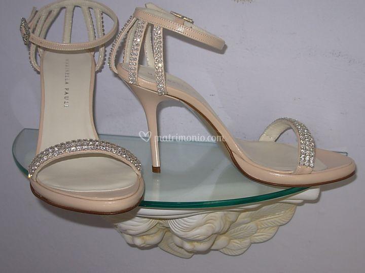 Sandalo pelle rosa antico