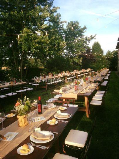 Cena in giardino, garden, wedd