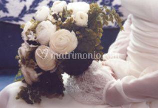 Bouquet di rose bianche