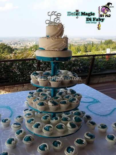 Torta matrimonio cupcake