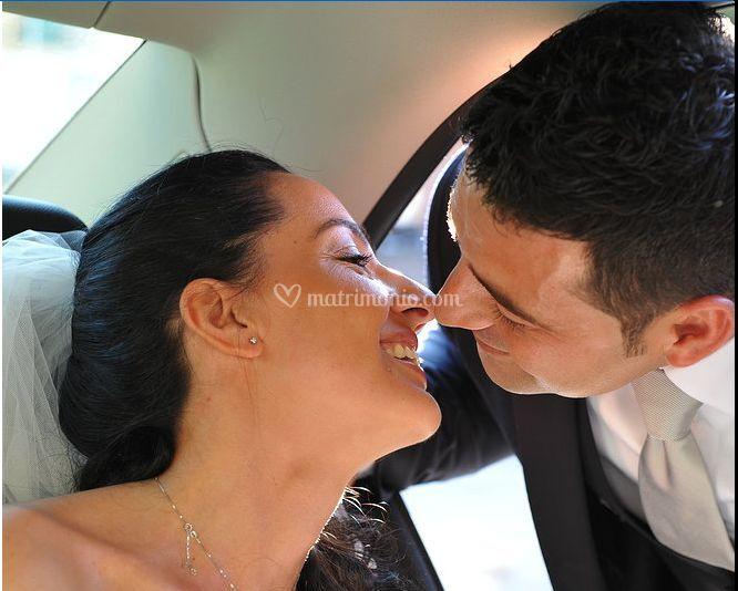Bacio in vettura