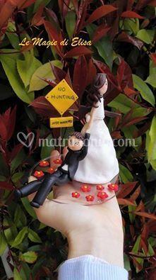 Cake topper sposi cacciatori