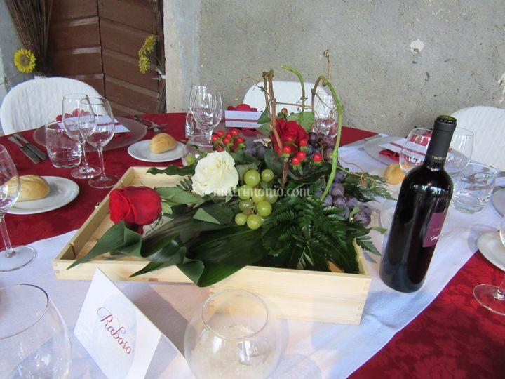 Centrotavola tema vino