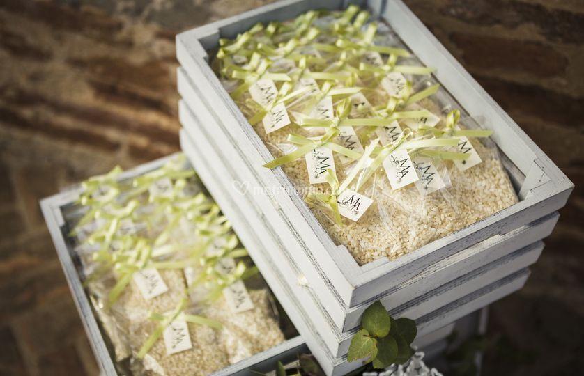 Sacchetti di riso con logo