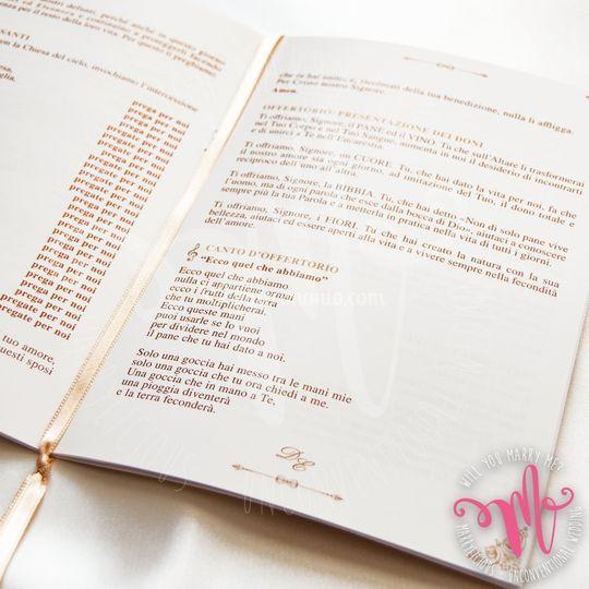 Libretto cerimonia interno