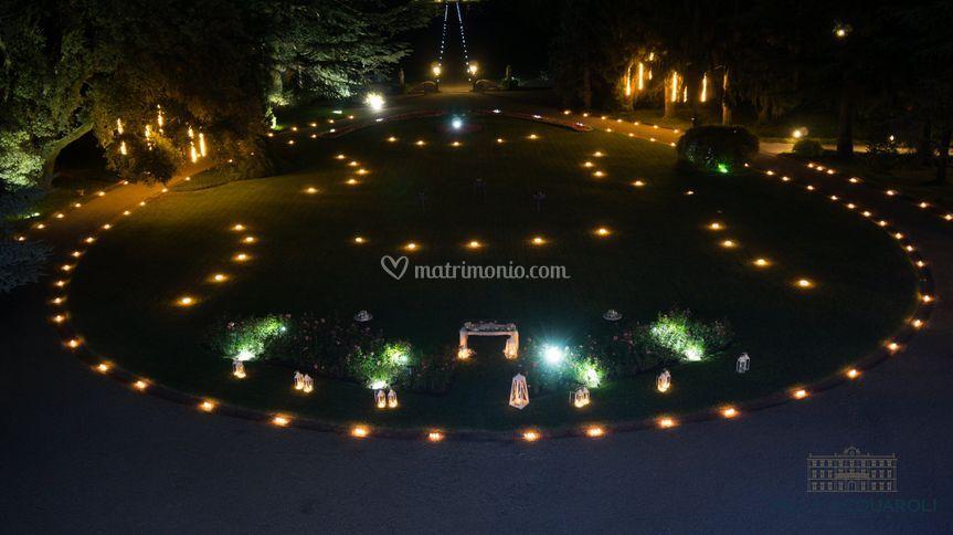 Il parco con le candele
