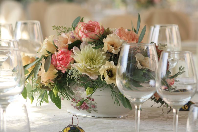 Centrotavola rose inglesi
