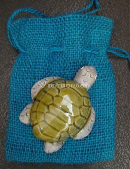 Sacc. con tartaruga ceramica