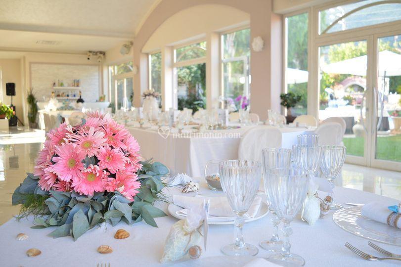 Vista tavolo sposi