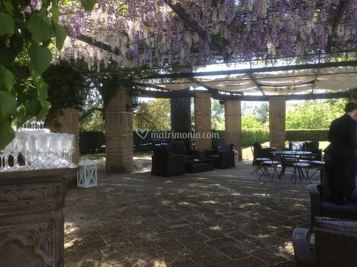 Il gazzebo di glicine di Giardini Della Insugherata