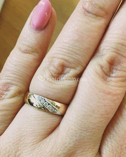 Fede obliquo diamanti