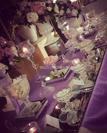 Sweet table light purple