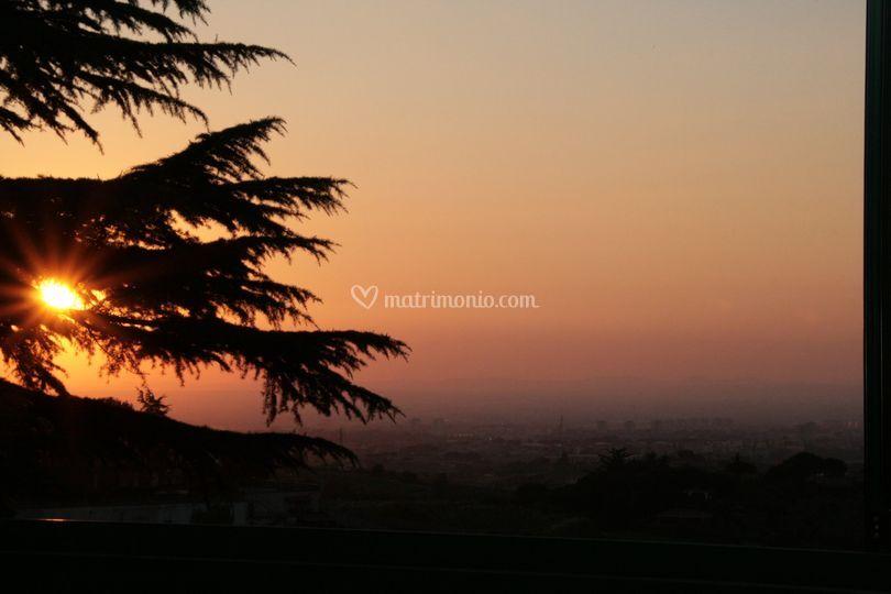 Il tramonto del borgo