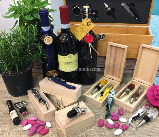 Bottiglie e accessori vino