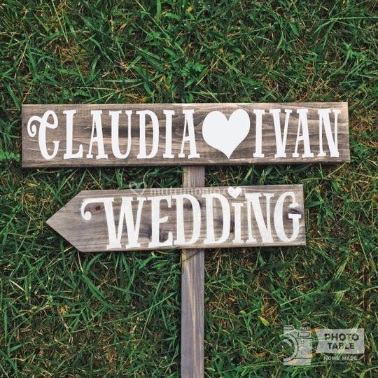 Insegne wedding personalizzate